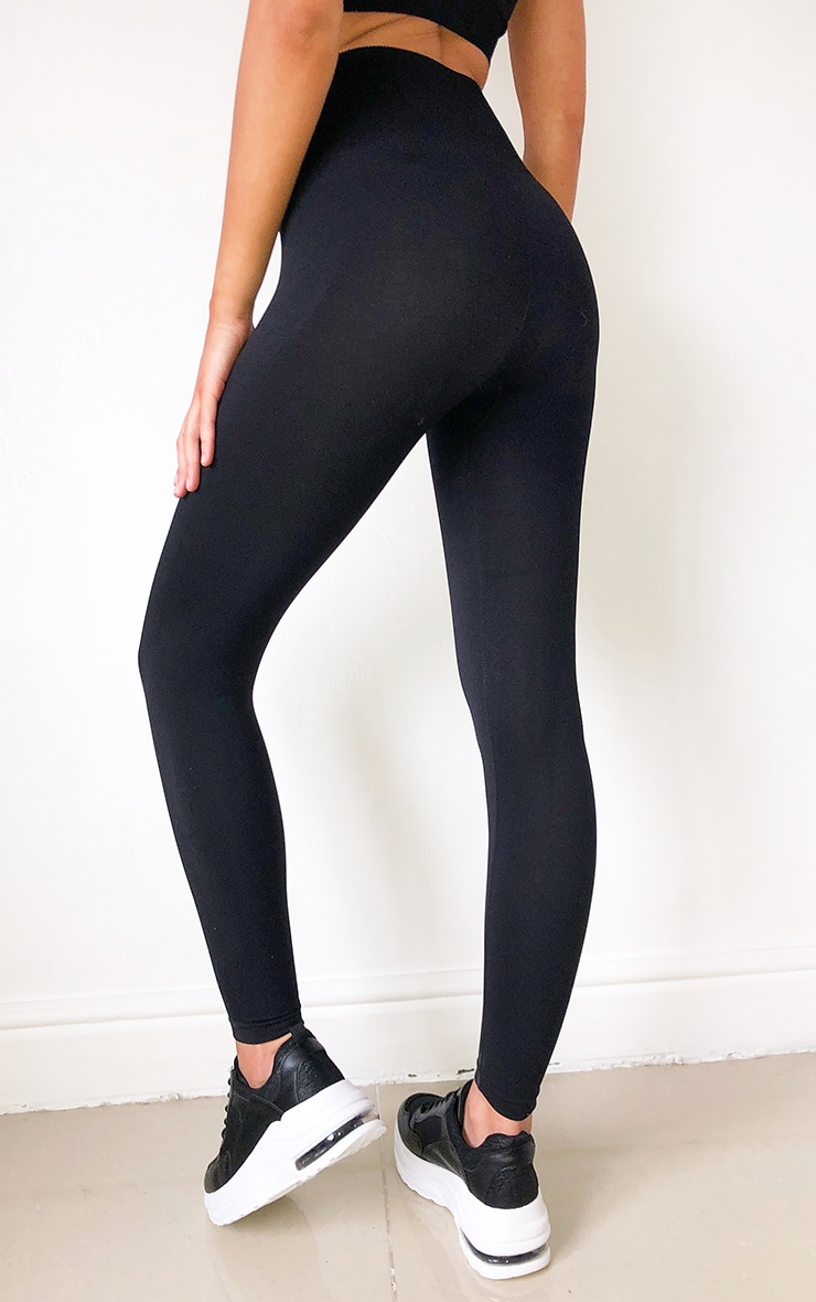 Black High Waist Seamless Gym Leggings 3