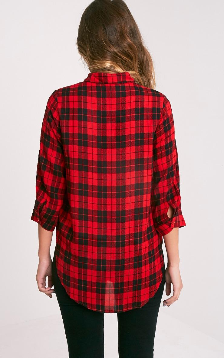 Dana chemise à carreaux rouge 2