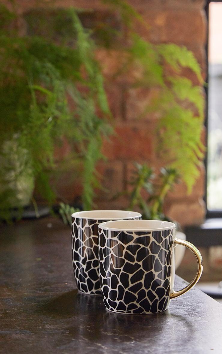 Zebra Print 2 Pack Mugs 2