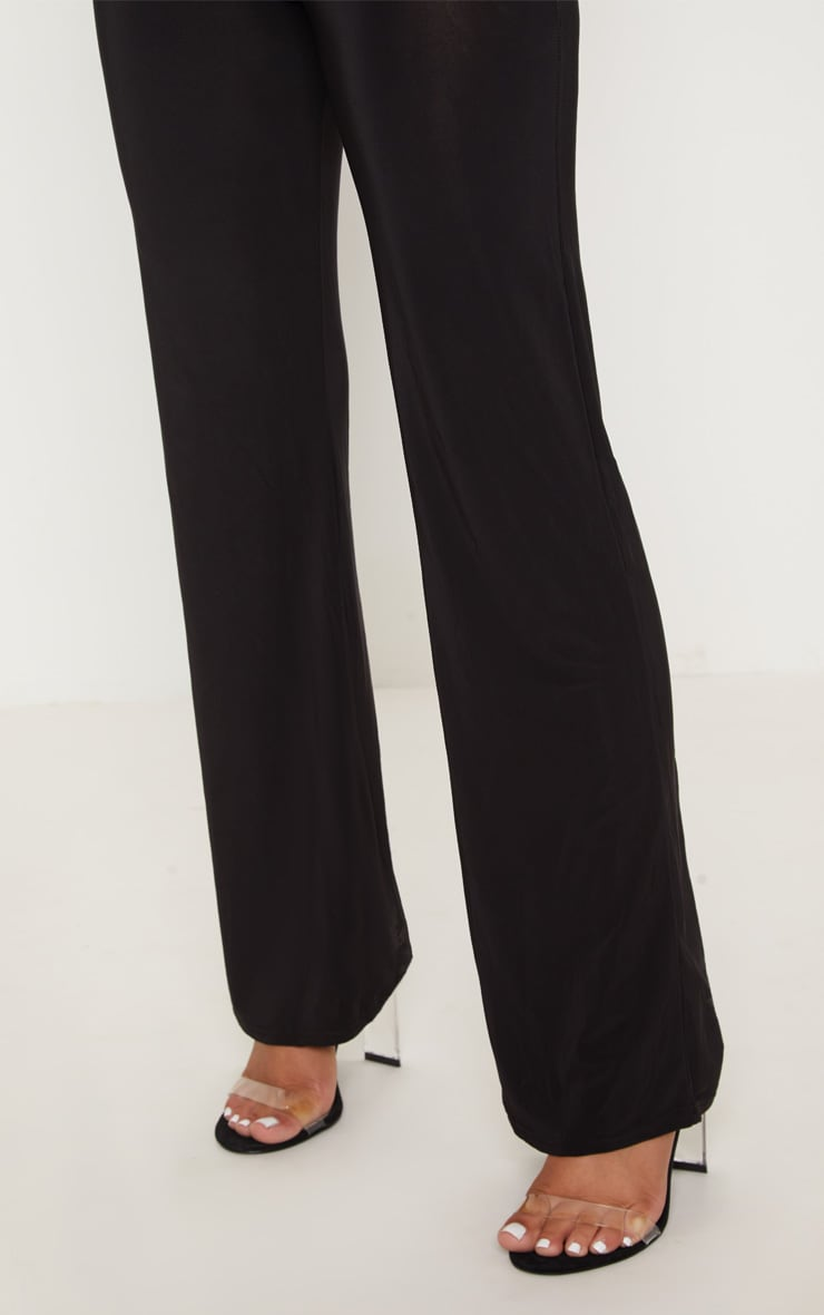 Petite Kyleigh Black Slinky Straight Leg Trouser 5