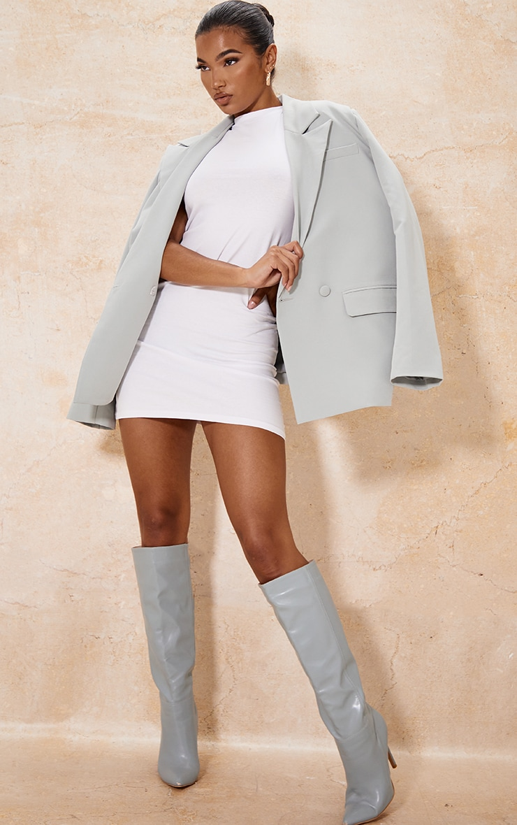 White Oversized Sleeveless T Shirt Dress 3