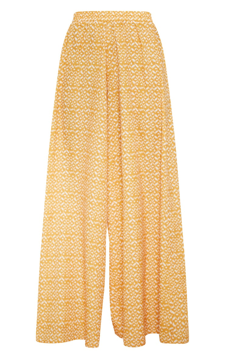 Mustard Aztec Extreme Wide Leg Floaty Pants 3