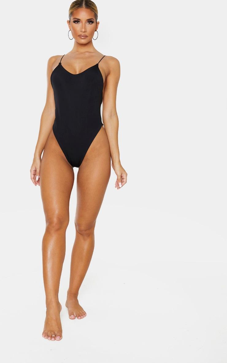 Black Skinny Strap Swimsuit 5