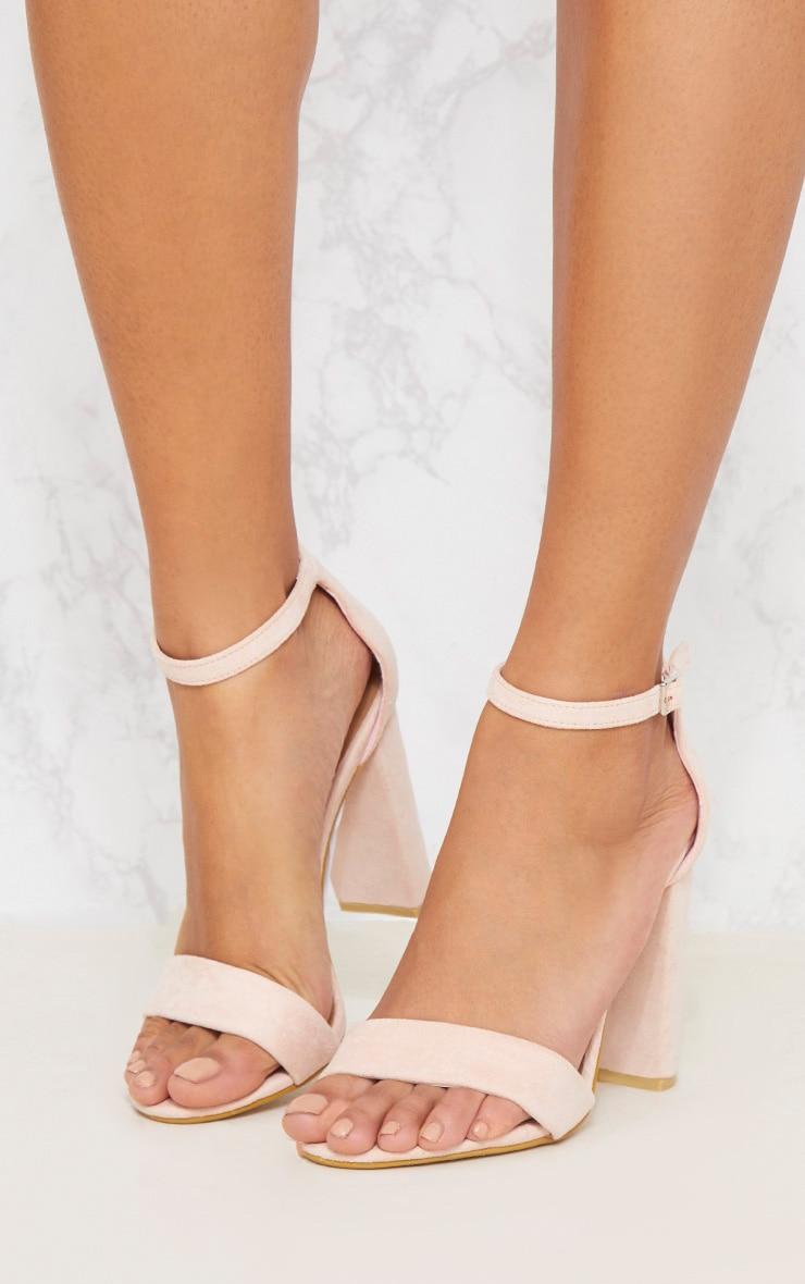 Dusty Pink Block Heel Strappy Sandal 2