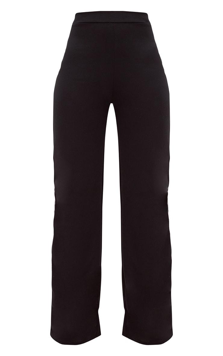 Black Stripe Wide Leg Track Trouser 3