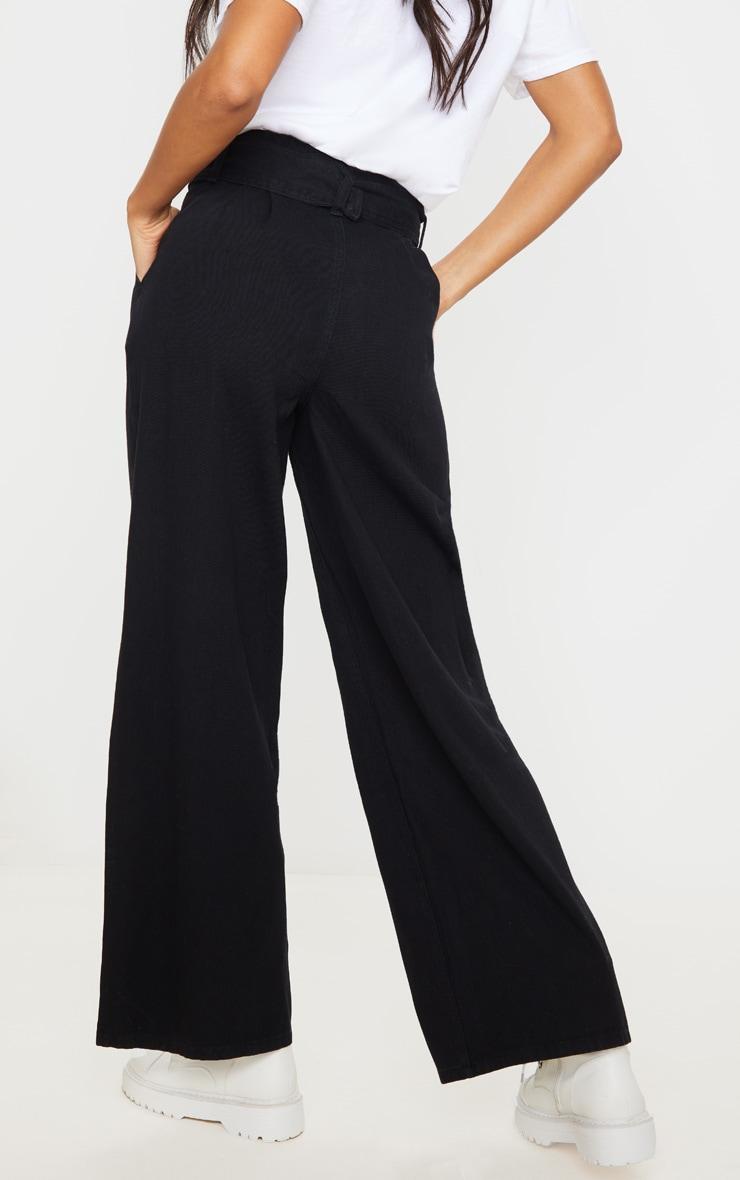 Black Belted Wide Leg Jeans 3