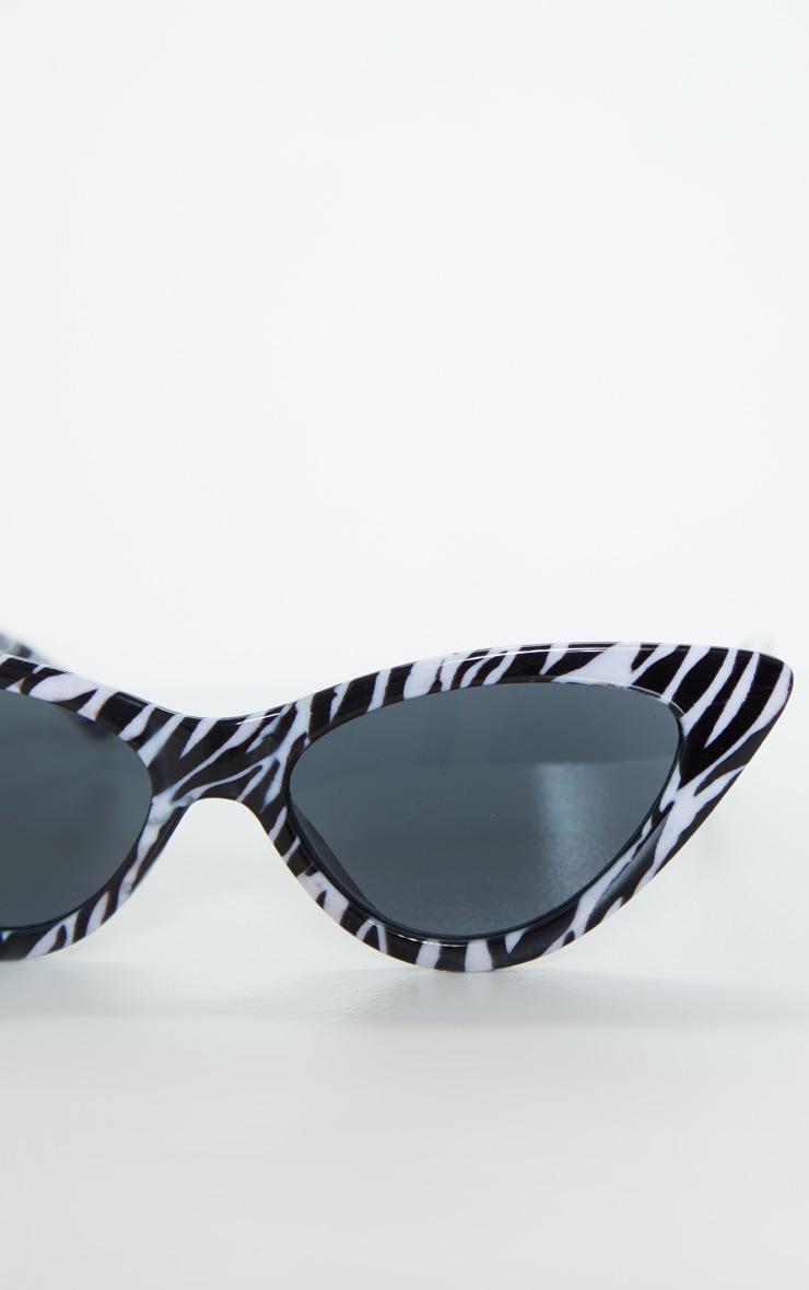Zebra Cat Eye Sunglasses 3