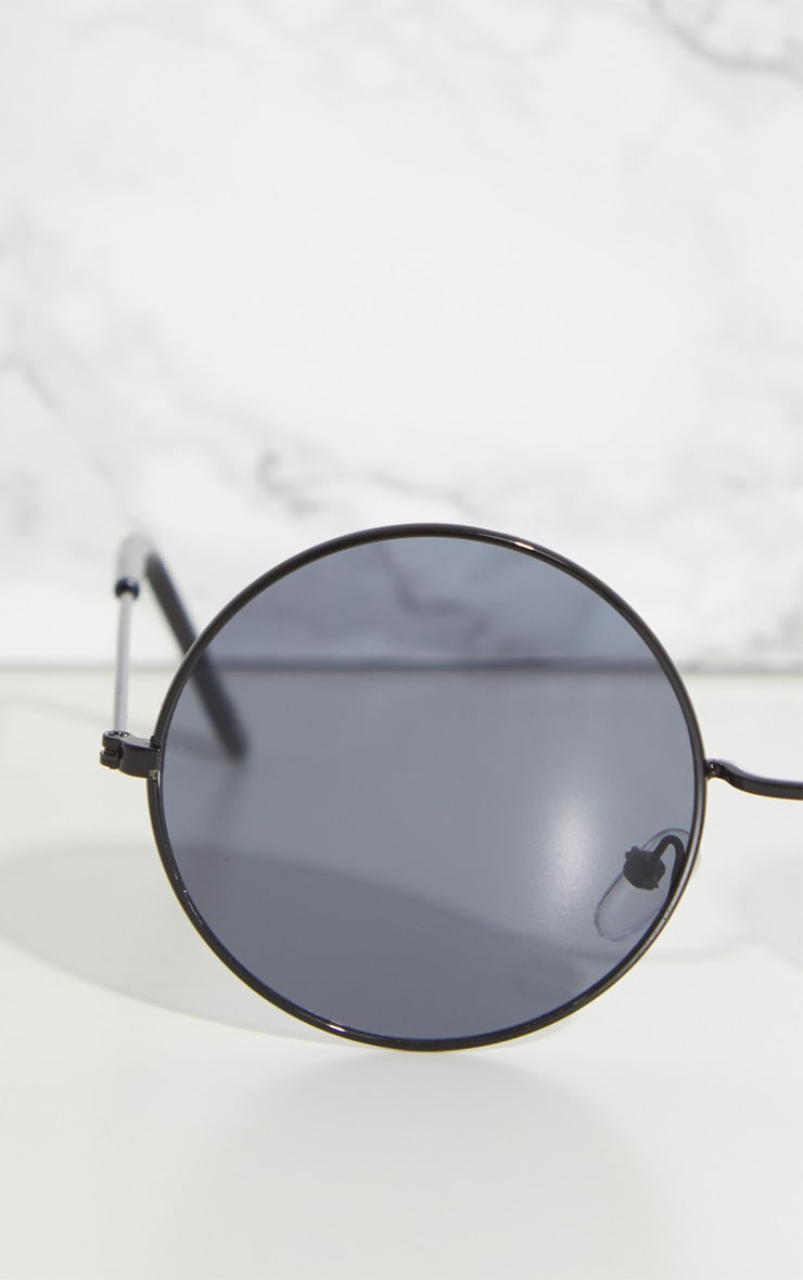 Black Round Metal Sunglasses 4