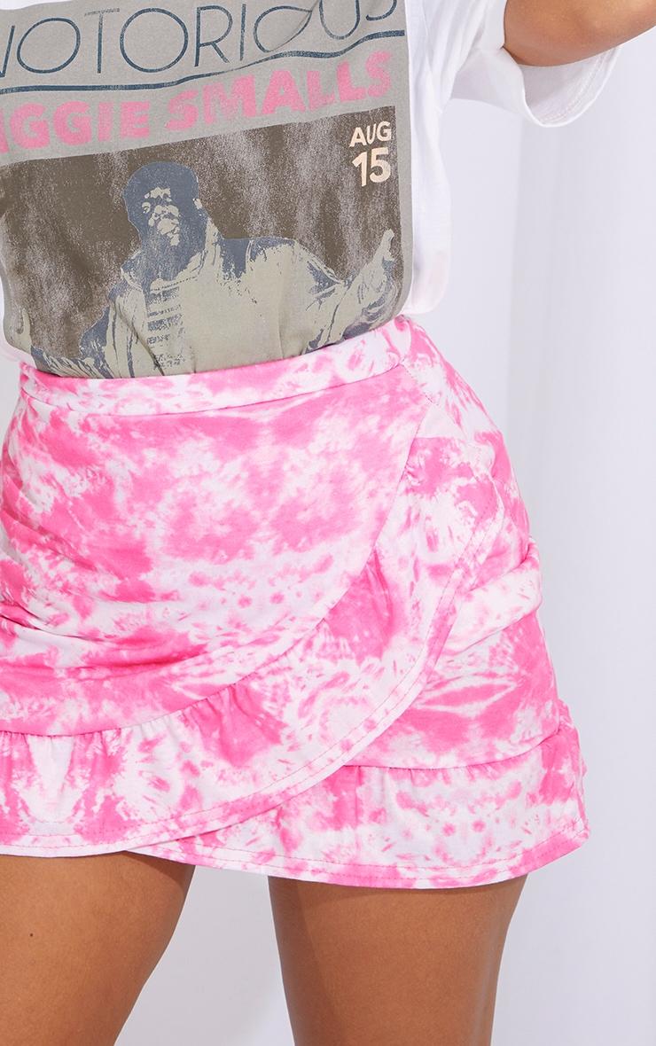 Petite Pink Tie Dye Jersey Mini Skirt 5