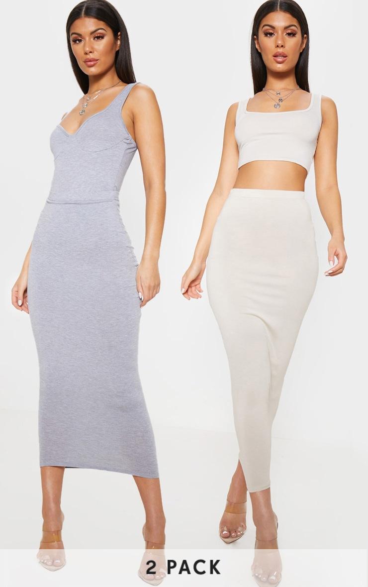 Grey & Stone Basic Maxi Skirt 2 Pack 1