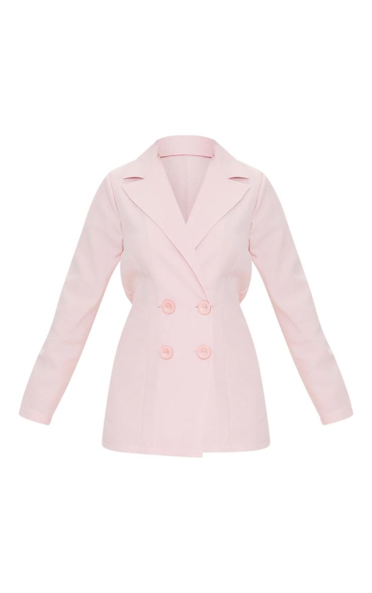 Petite Dusty Pink Oversized Suit Blazer 5