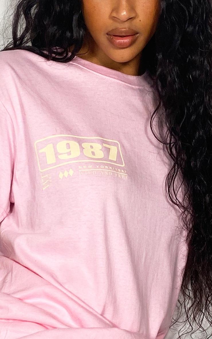 Pink Slogan World Tour T Shirt 3