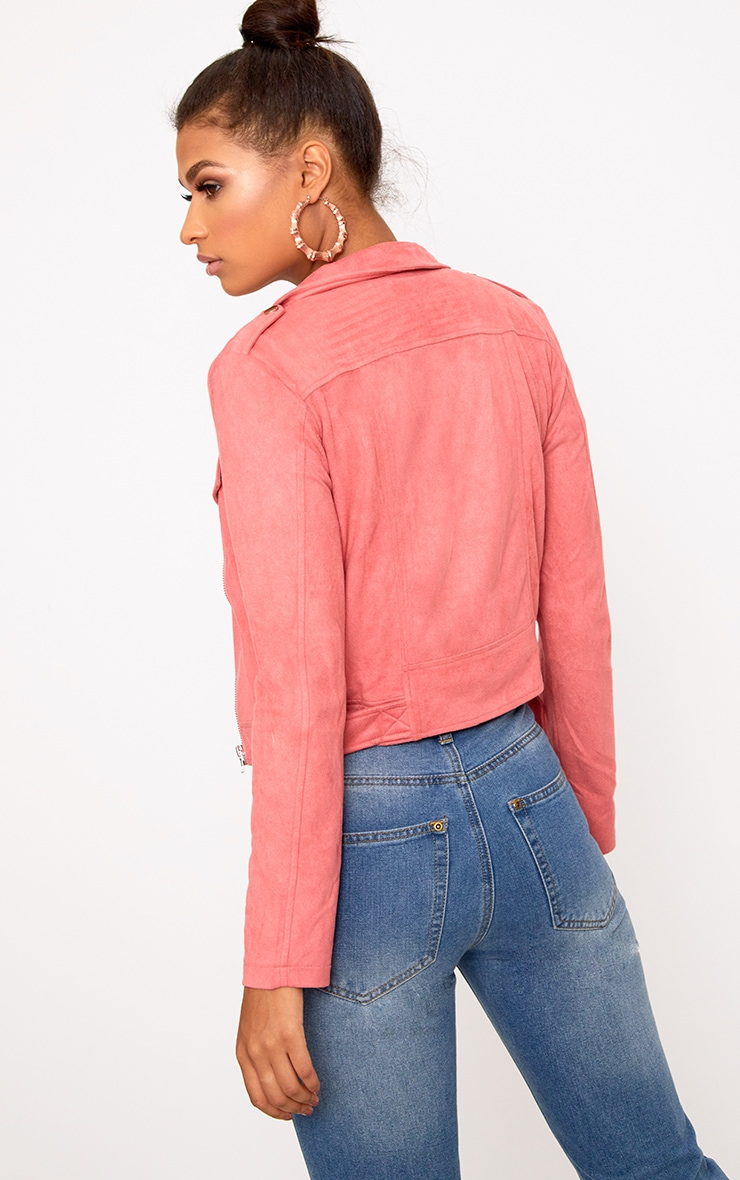 Niki Rose Faux Suede Biker Jacket 2