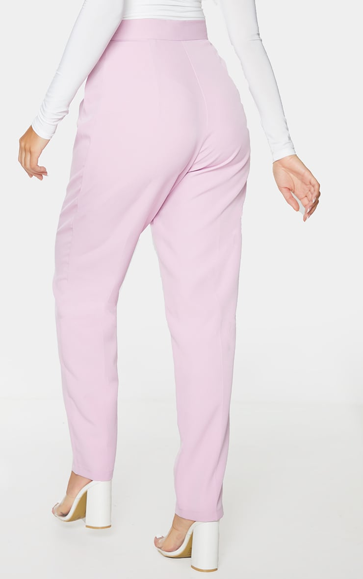 Lilac Tapered Button Front Pants 3
