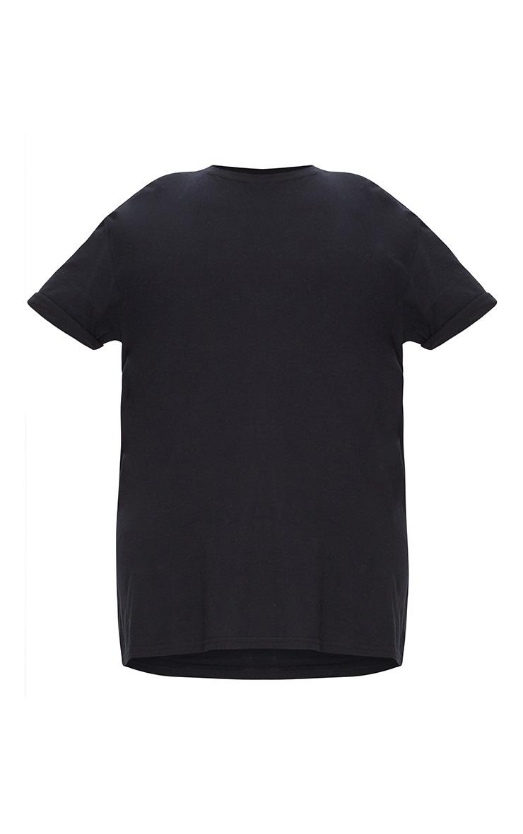 Plus Black Oversized Boyfriend T Shirt  3