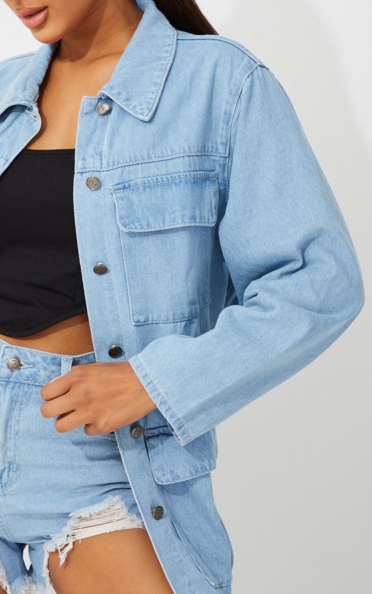 Light Blue Wash Denim Jacket 4