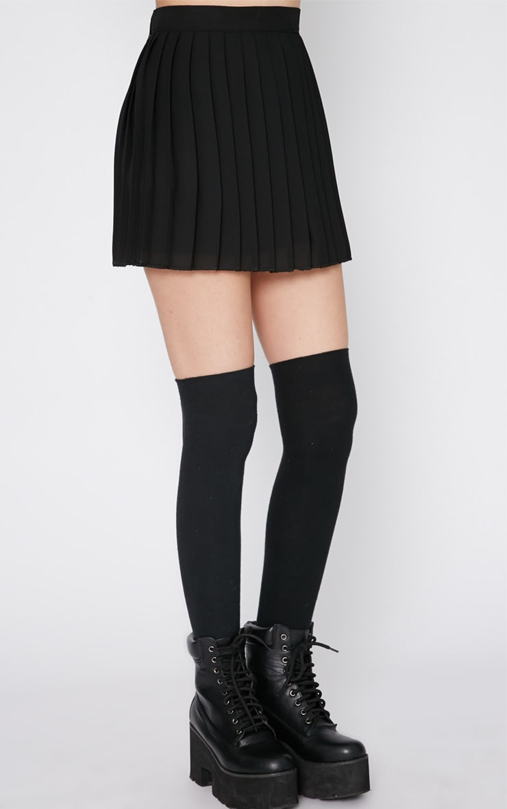 Sinopa Black Pleated Mini Skirt 5