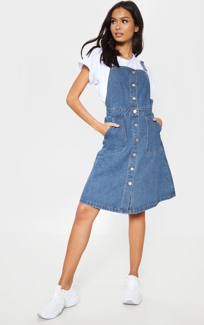 4cea4ad9d37 Denim Dresses   Pinafore Dress   Pinafores   PrettyLittleThing