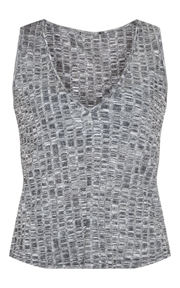 Grey Marl Mix & Match Grey Lounge Vest 3
