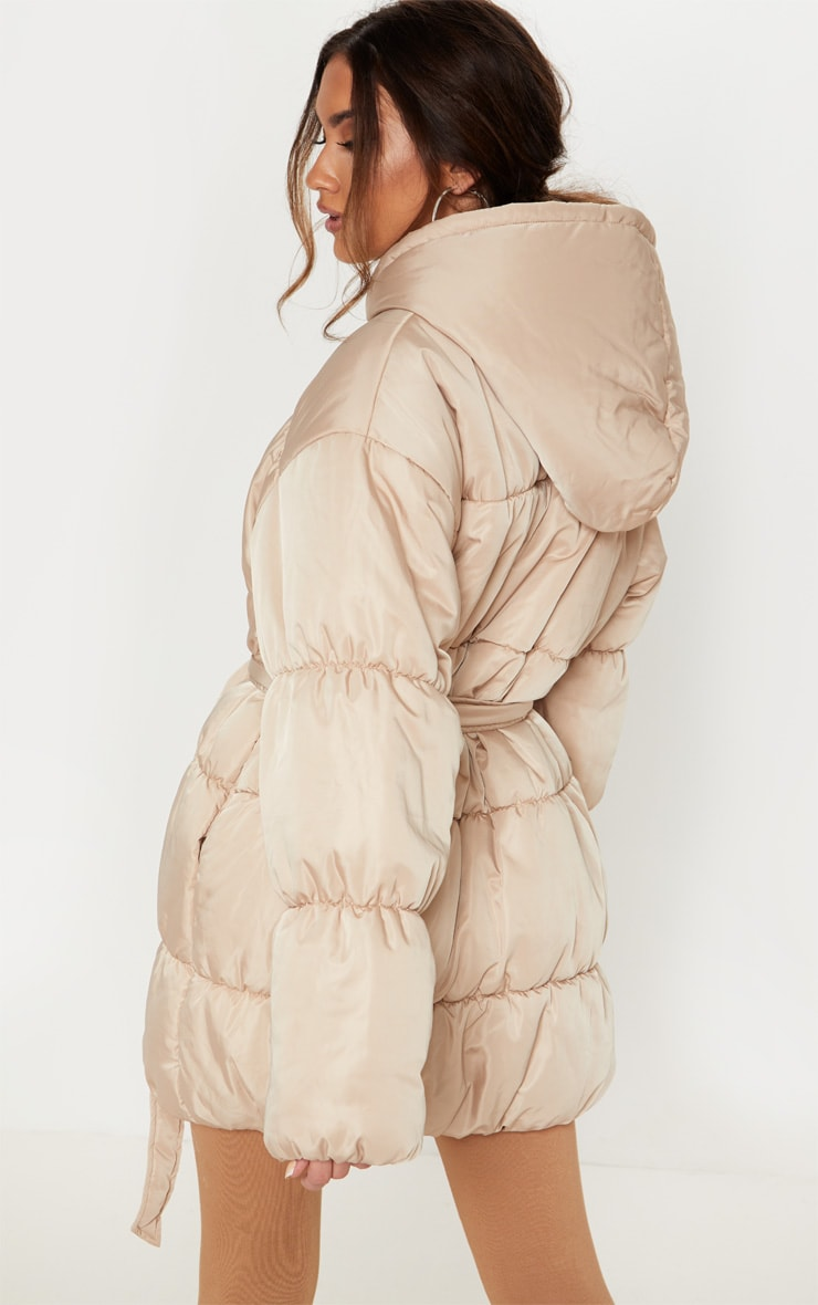 Stone Belted Puffer Jacket 2