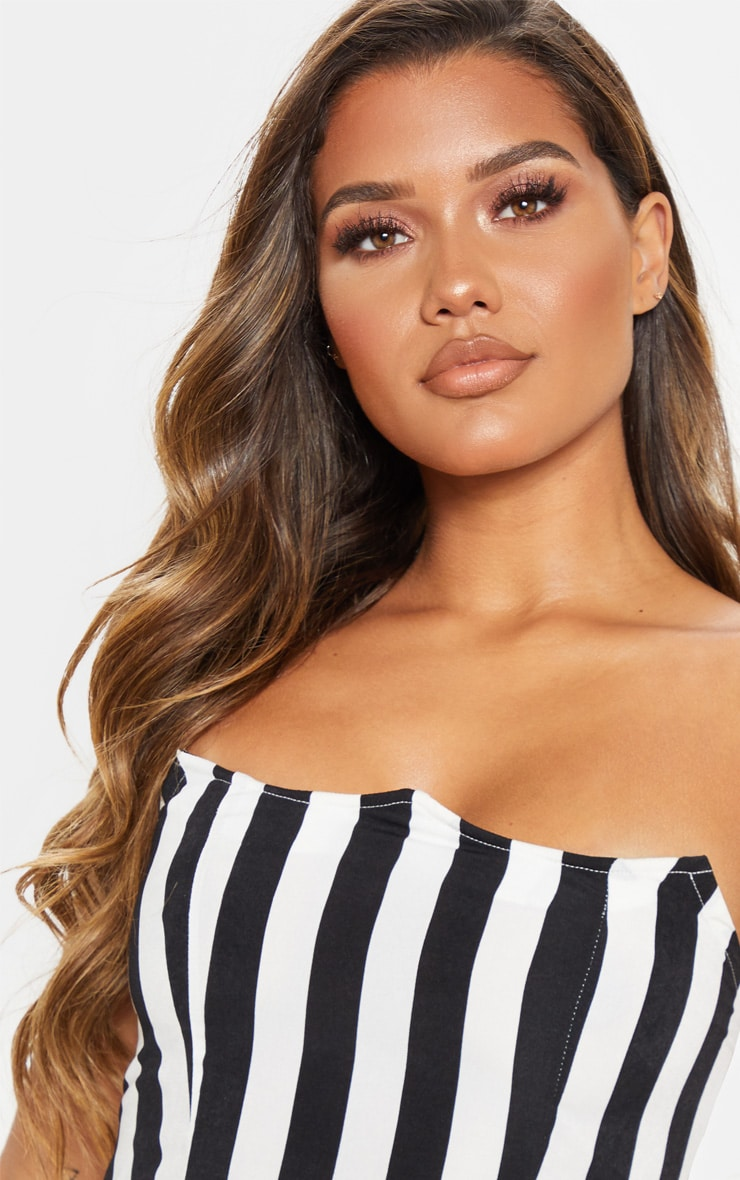 Black Stripe Wired Bandeau Crop Top 5