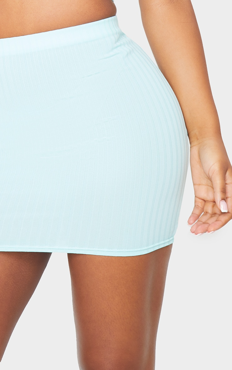 Mint Rib Mini Skirt 5