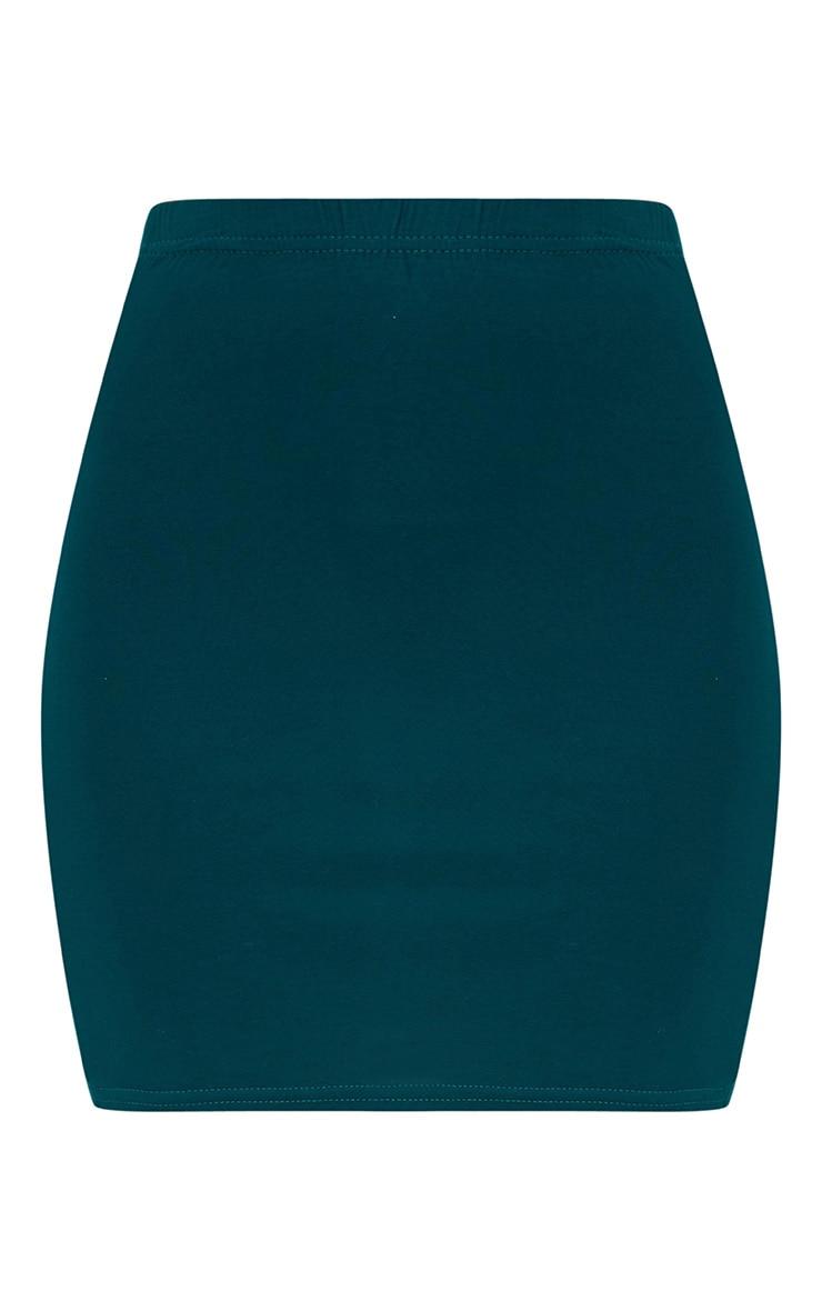 Forest Green Basic Mini Skirt 3