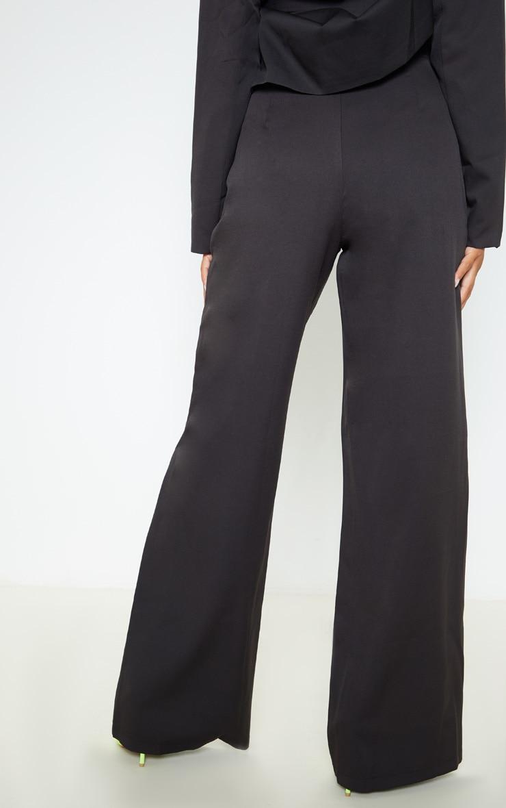 Black Super Wide Leg Trouser  4