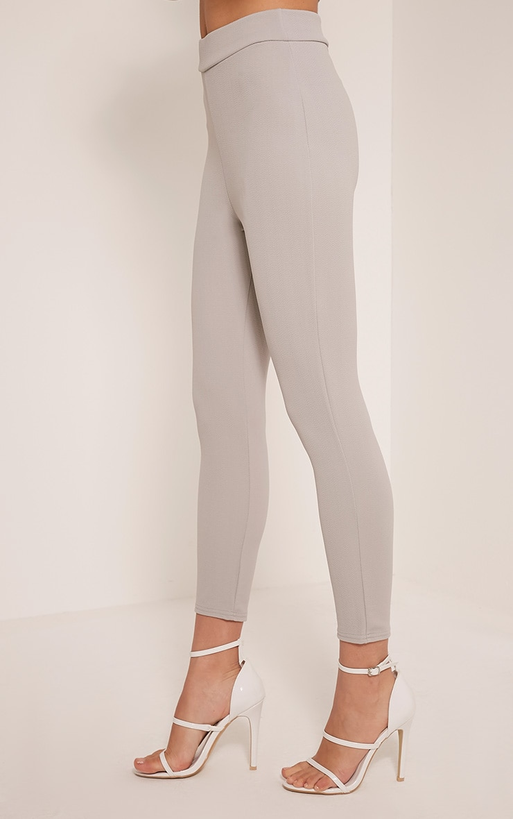 Evalyn Grey Cropped Trousers 3