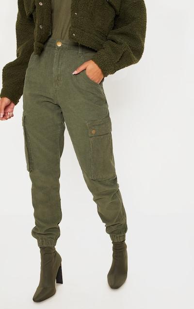 Khaki Cord Cargo Trouser
