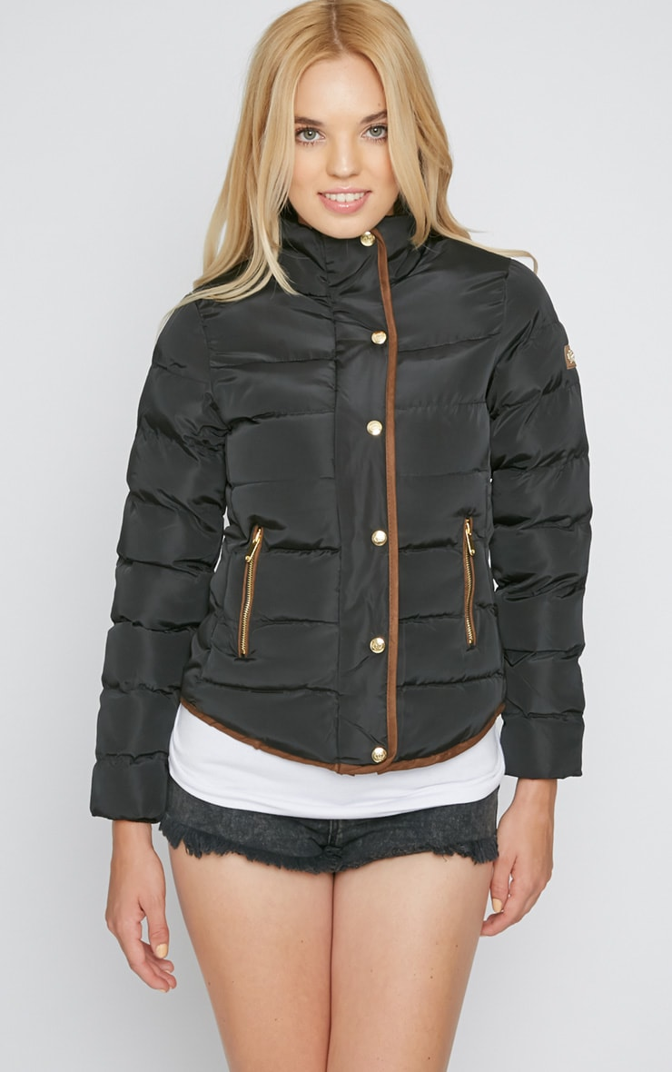 Jenny Black Quilted Jacket 3