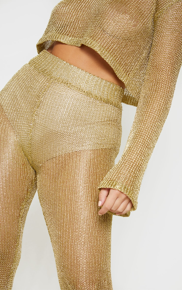 Gold Knit Beach Flares 5
