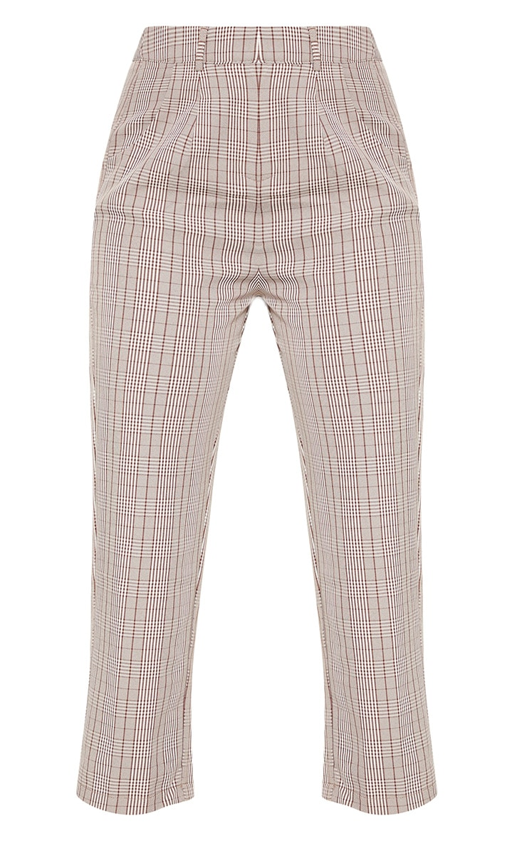 Brown Check Straight Leg Trouser 3