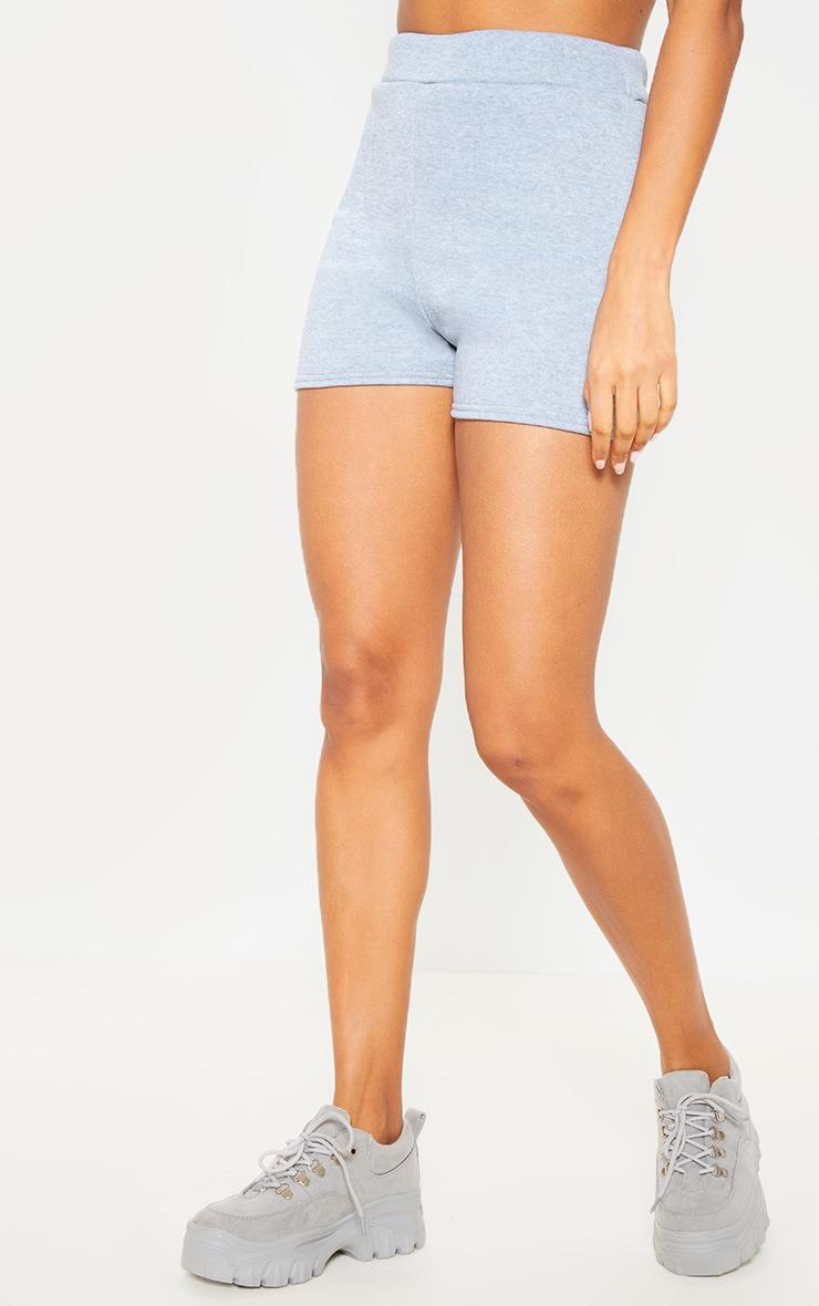 Grey Sweat Casual Short  2