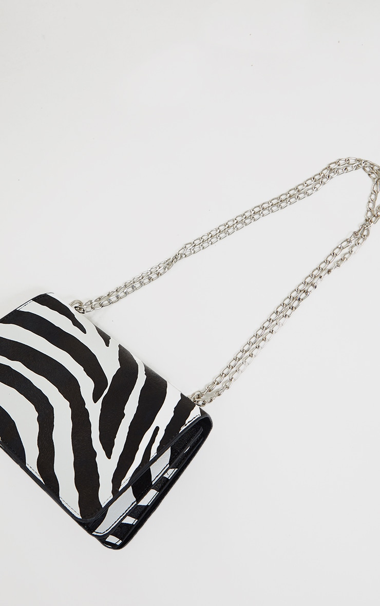 Black Zebra Cross Body Bag 3