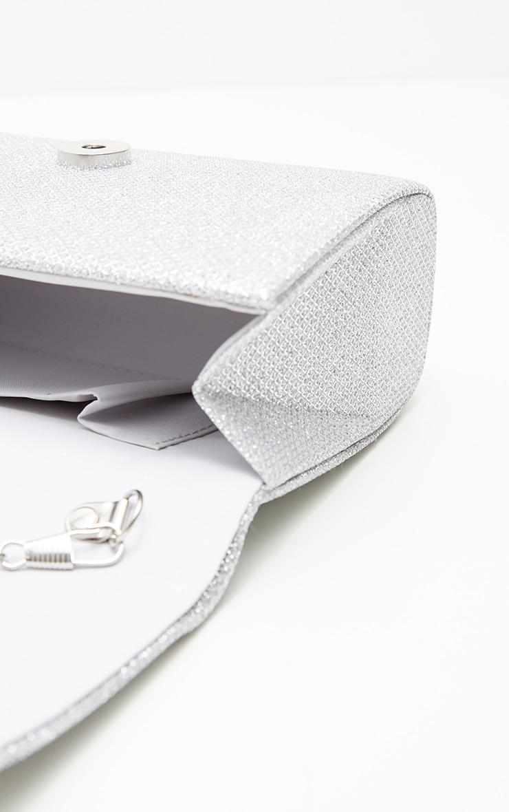Silver Glitz Mini Clutch 5