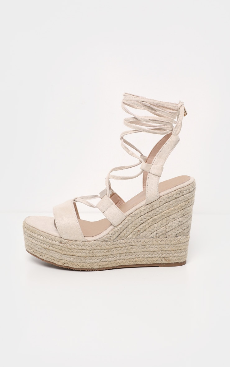 Nude Ghillie Espadrille Wedge 4