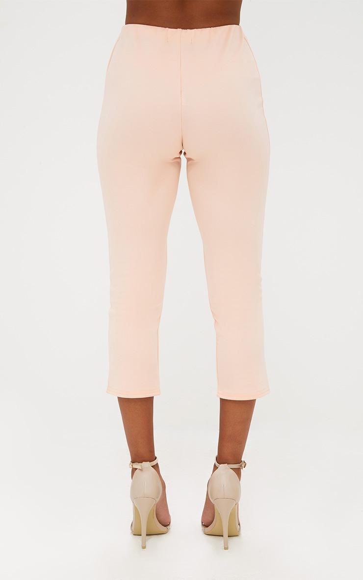 Petite Nude Split Hem Trousers 4