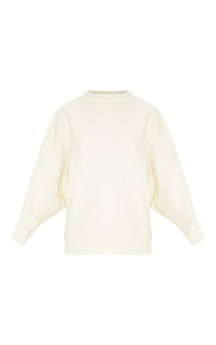 Beige Oversized Knitted Jumper 3