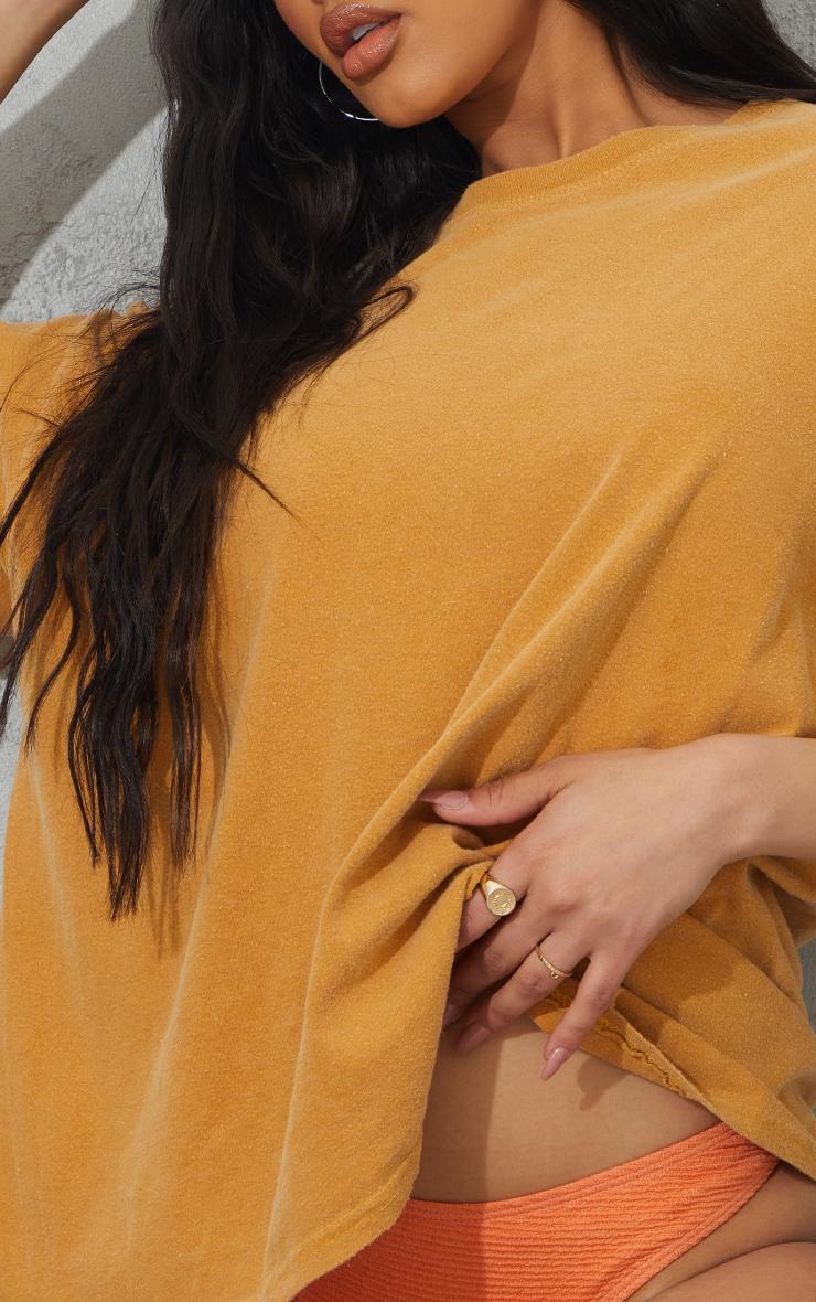 Yellow Washed Oversized T Shirt 4