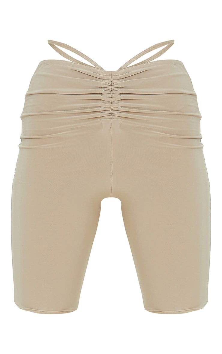 Stone Slinky Ruched Waist Cycle Shorts 6