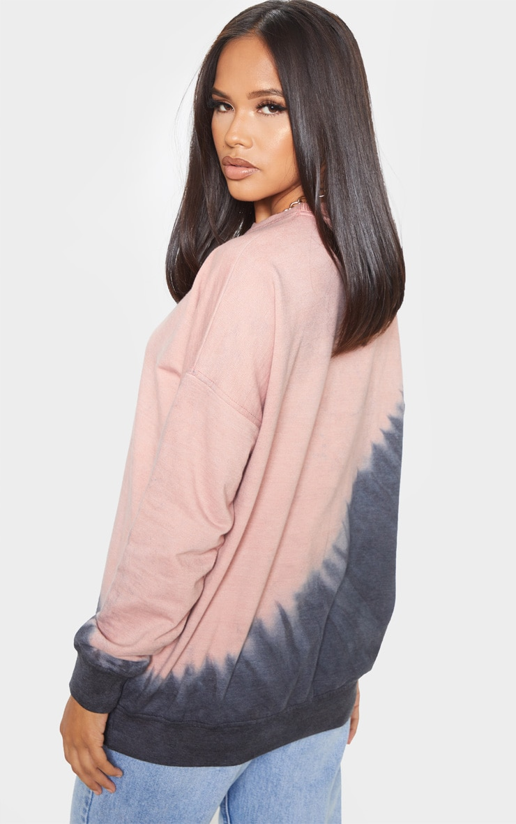 Black Tie Dye Washed Oversized Sweatshirt 2