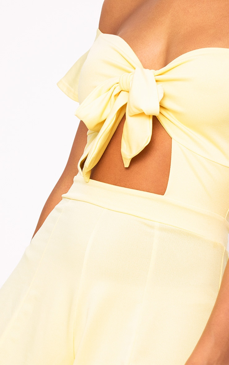 Yellow Bust Bow Playsuit  5