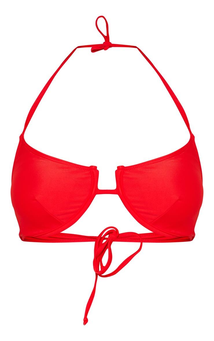 Red Underwired Tanga Bikini Top 3