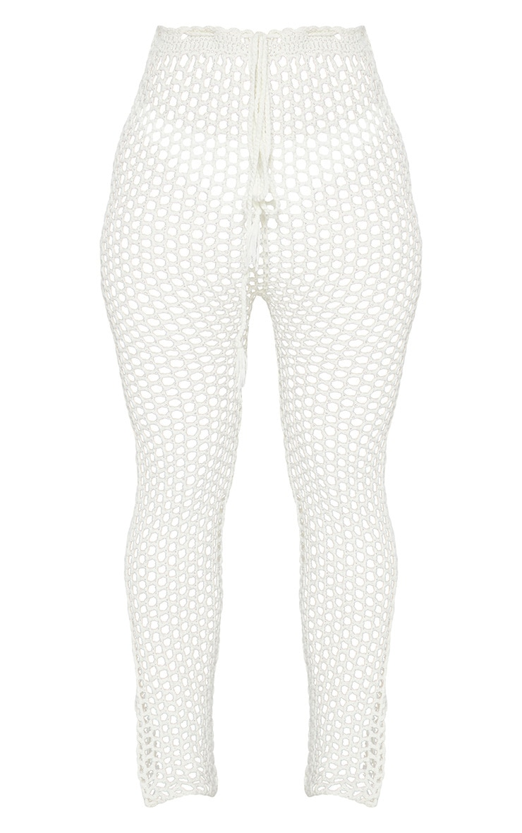 White Crochet Trousers 6