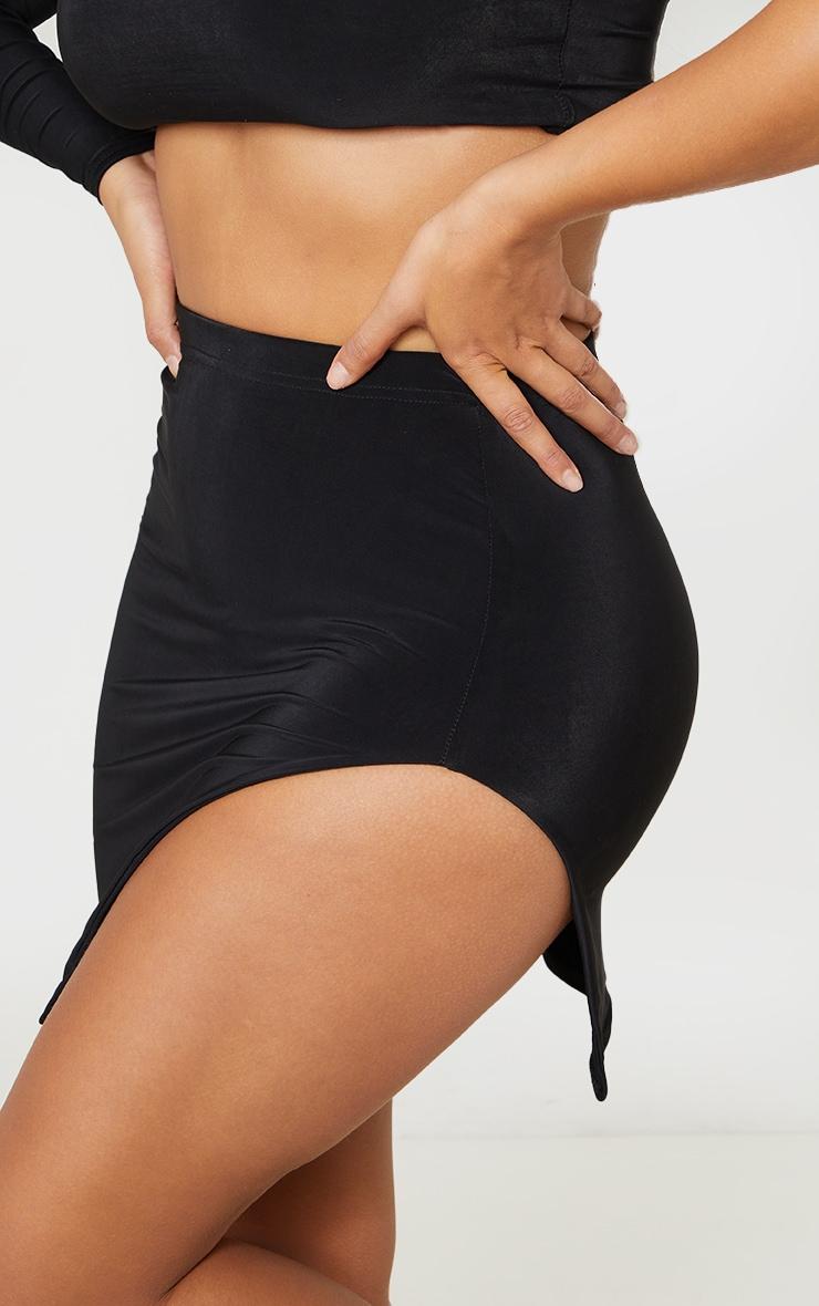 Shape Black Slinky Split Side Bodycon Skirt 5
