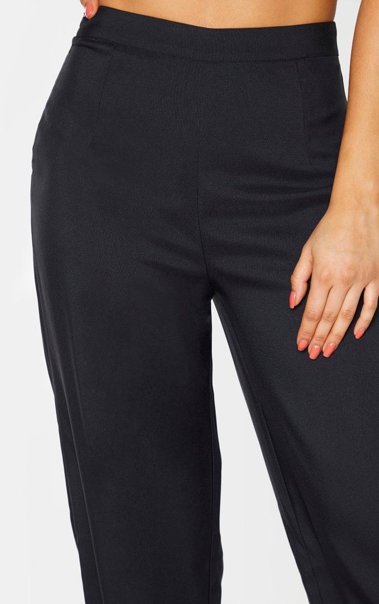 Tall Black Woven Wide Leg Pants 5