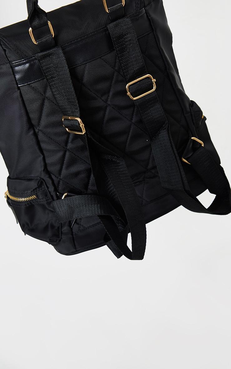 Black Multi Pocket Backpack 2