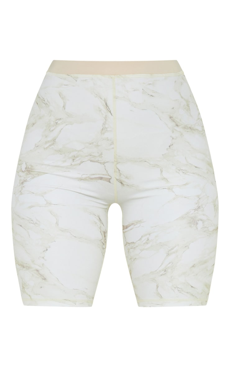 Stone Marble Contrast Waist Cycle Short 3