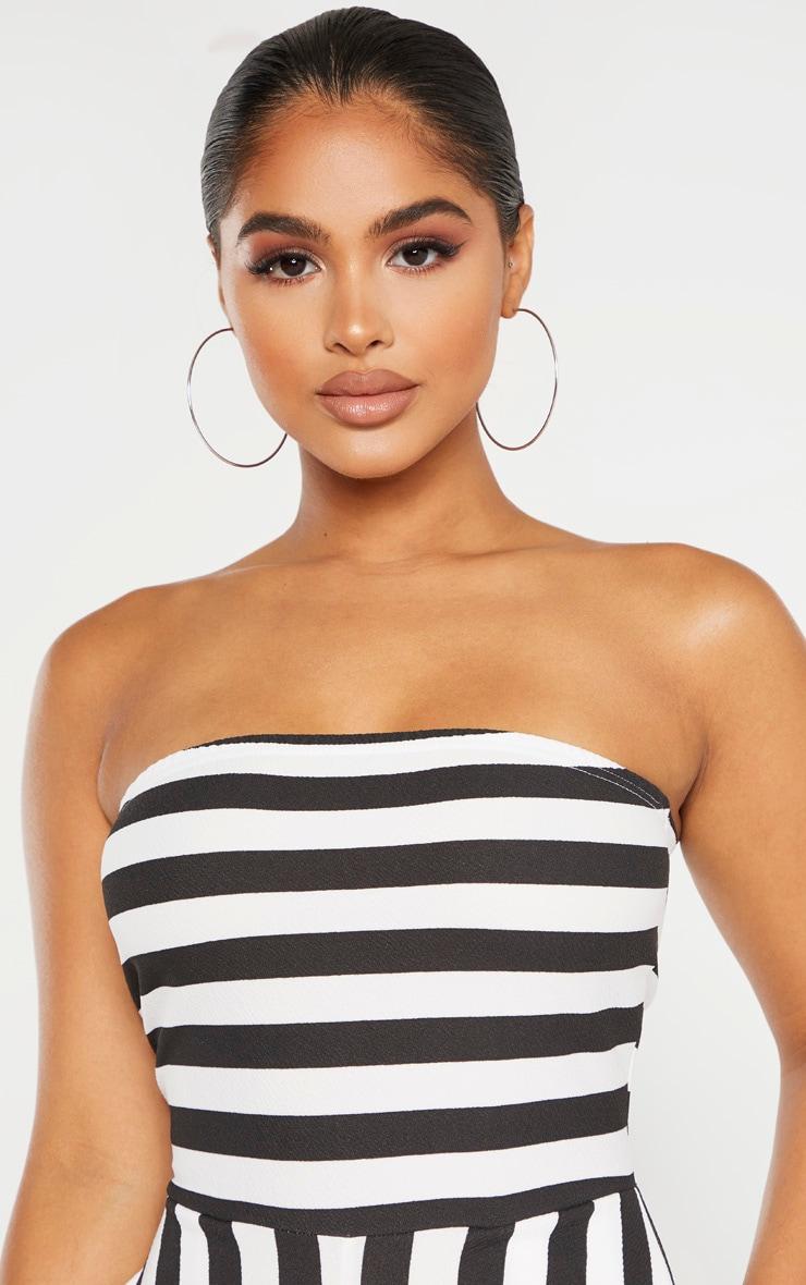 Petite Black Contrast Stripe Bandeau Culotte Jumpsuit 5